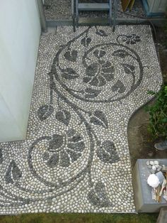 Best Pins Live - Just another WordPress site Mosaic Rocks, Pebble Mosaic, Stone Mosaic, Pebble Art, Mosaic Art, Mosaic Glass, Mosaic Tiles, Garden Paving, Garden Paths