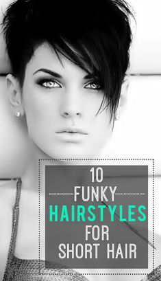 Funky hairstyle is best reflection for strong personality and also romantic look. However, it seems messy or kid of rough but it is the best way to look different and incredibly stylist. Read this article here you will get 20 funky hairstyles for woman Funky Short Hair, Short Hair Cuts, Short Hair Styles, Cheveux Courts Funky, Cute Haircuts, Modern Haircuts, Sassy Hair, Edgy Hair, Corte Y Color