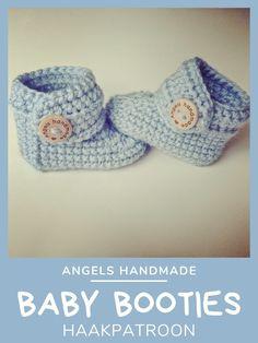 Haakinformatie   Haakpatroon Babyslofjes - Haakinformatie Diy Crochet, Crochet Baby, Kids Headbands, Kids Jewelry, Handmade Baby, Baby Booties, Knit Patterns, Booty, Stitch
