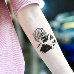 Tokyo Ghoul Temporary Tattoo Sticker (Set of Dope Tattoos, Anime Tattoos, Pretty Tattoos, Black Tattoos, Body Art Tattoos, Small Tattoos, Sleeve Tattoos, Tattoos For Guys, Gun Tattoos