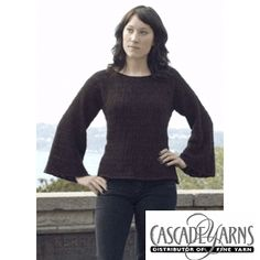 Venezia Pullover Knitted Ladies' Pullover Pattern by Cascade Yarns - FREE Knitting Pattern