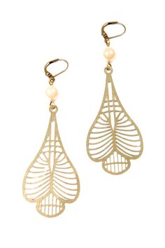 Art-Deco Style Earrings by Paperdolls