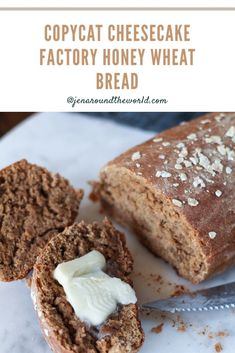 This delicious brown bread recipe is the reason why I love making homemade bread at home. It tastes just like the brown bread you get from Cheesecake Factory. Cheesecake Factory Brown Bread, Cheesecake Factory Recipes, Bread Machine Recipes, Banana Bread Recipes, Brown Bread Recipe, Honey Wheat Bread, Homemade Butter, Sweet Bread, Copycat Recipes