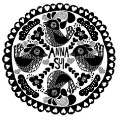 Illustration by artist Lisa Grue for client Anna Sui