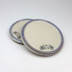 A Pair of Ceramic Tandem Coasters
