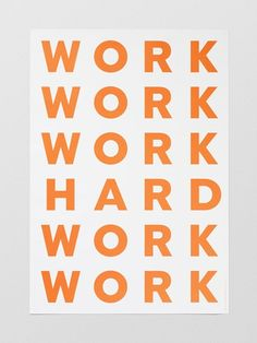 Word Hard Poster (70x100cm)