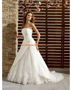 2013 Traumhafte elegante Brautkleider aus Satin und Organza mit Applikation und Schleppe