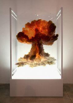 'Nuclear Bomb' 10 Multi Layered, UV LED Inkjet prints on 3mm clear Acrylic.  Tel Aviv, Israel artist Eyal Gever
