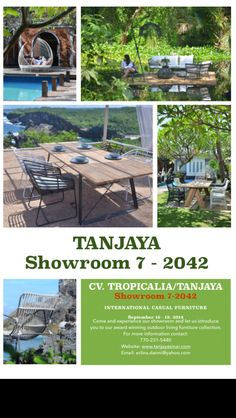 Chicago Casual Market Show September 16 - 19. 2014 TANJAYA - Suite 7 - 2042. Let us introduce you to our award winning outdoor living furniture line.