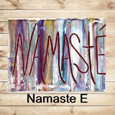 Choose your Namaste!  I have added several variations A B C D or E to the listing so you can pick the painting you prefer, also please feel free to message me for a custom listing as well! Thank you for your interest in my art!  Cheers, Katey   ✿Artwork description- Abstract quote typography on canvas ✿Size: 9 x 12 1 High quality Gallery wrap canvas, comes ready to hang. ✿Back wrapped stretched box canvas, black painted edges ✿Medium- acrylic, mixed media ✿Signed and dated on back by the…