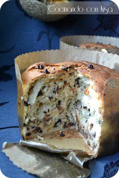 Cocinando con Kisa: Panettone con trocitos de chocolate (KitchenAid y horno tradicional)
