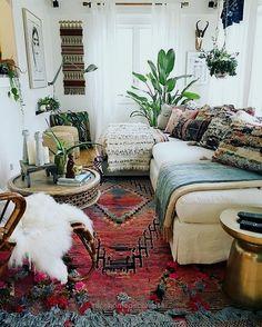 bohemian living room decorating idea 10…  http://www.nicehomedecor.site/2017/08/02/bohemian-living-room-decorating-idea-10/