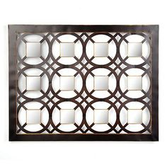 """Kirkland's: Winfield Plaque $59.99 for dining room- 44""""Lx34""""H espresso finish with square mirrored tiles"""
