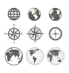 globe and plane tattoo - Google Search
