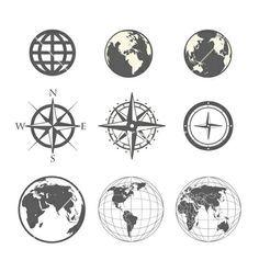 Globe and Windrose inspired // Cristina Ramella Jewelry