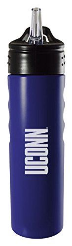 University of Connecticut-24oz. Stainless Steel Grip Water Bottle with Straw-Blue >>> Visit the affiliate link Amazon.com on image for more details.