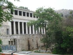 The Stoa in the Agora where Sokrates was probably indicted.