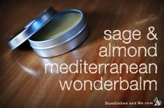 """DIY Mediterranean Wonderbalm - Humblebee & Me - DIY Mediterranean Wonderbalm by Marie posted on November 2013 Back in September Carlee got in touch with a request—""""Mediterranean Olive … - Diy Masque, Sage Essential Oil, Facial, Homemade Beauty Products, Natural Products, Lotion Bars, Beauty Recipe, Belleza Natural, Diy Skin Care"""