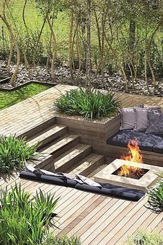 Fire Pit Design Idea For More Attractive – Best Outdoor Fire. - Fire Pit Design Idea For More Attractive – Best Outdoor Fire. Sunken Fire Pits, Diy Fire Pit, Fire Pit Backyard, Deck With Fire Pit, Pool Backyard, Sunken Patio, Garden Fire Pit, Fire Pit With Seating, Patio Fire Pits