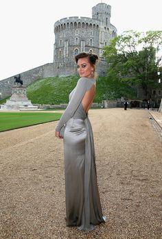 Margot Robbie in Ralph Lauren Collection at the Royal Marsden Dinner at Windsor Castle.
