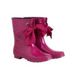 Joules Milleywelly in Pink. Great mid-height rain boot @ www.let-it-rain.com