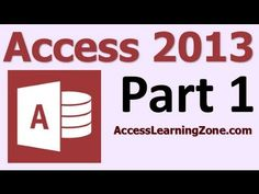 ▶ Microsoft Access 2013 Tutorial Part 01 of 12 - Database Terminology - YouTube