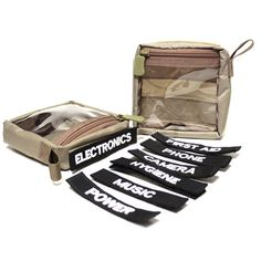 The Go-Pouch is the ideal way to organize your miscellaneous items in your bag. It has 2 Velcro® strips along the bag to secure it to any Velcro field in your bag and a transparent window to help locate contents. All in all, a great accessory.  The Go-Pouch by S.O.TECH tactical. sotechtactical.com Military Units, Military Gear, Edc Bag, Edc Everyday Carry, Go Bags, Bag Organization, Laptop Backpack, Tactical Gear, Gears
