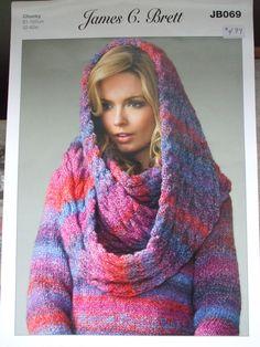 Second Silver - women's Sweater Snood scarf Cardigan Jacket Knitting patterns James C. Brett