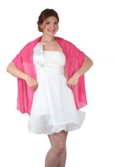e622bca50aba9 ROBLORA châle en mousseline de soie étole écharpe pour robe de soirée de  différentes couleurs taille