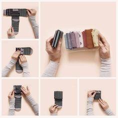 3 Fast and Easy Ways of Folding Socks and Leggings - Homganize Dresser Drawer Organization, Closet Organisation, Sock Organization, Organizing, Ideas Para Organizar Ropa, Folding Socks, Sock Storage, Clothing Hacks, Getting Organized