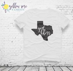 God Bless Texas Texas Shirt Women's Fashion by YellowRoseFashion