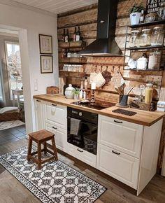 Cute Kitchen, Little Kitchen, New Kitchen, Beautiful Kitchen, Kitchen Island, Kitchen Interior, Kitchen Decor, Kitchen Design, Decorating Your Home