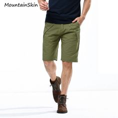 army green shorts mens