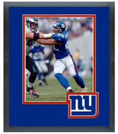Michael Strahan New York Giants Circa 2006 - 11 x 14 Famed & Matted Photo