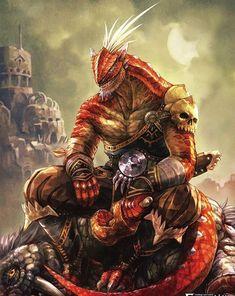 Master of dragons and berserkers Dark Fantasy Art, Fantasy Rpg, Fantasy Artwork, Dungeons And Dragons Characters, Dnd Characters, Fantasy Characters, Fantasy Races, Fantasy Warrior, Fantasy Monster