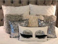 Pillow idea #GlitterBedroom