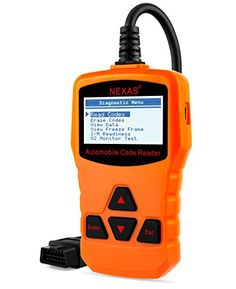 Obd ii Eobd Check Engine Light Diagnostic codes readerNexas New Generation Obd Universal Scan Tool with Full 10 Modes * To view further for this item, visit the image link. (This is an affiliate link and I receive a commission for the sales) Mechanic Tools, Car Shop, Automotive Tools, Cool Tools, Engineering, Coding, Image Link, Diy Projects, Clip Art