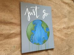 Just Go Global Painting by TheCreativeTypes on Etsy