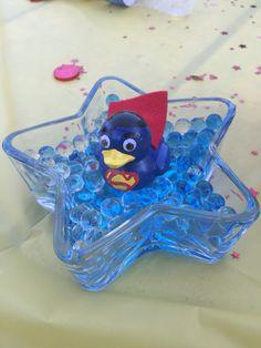 Superman baby shower center piece
