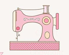 Clipart, Sewing Machine, Sewing, Vintage, Sew, Commercial Use, Clip Art, Digital Illustration.