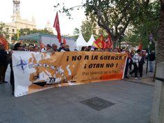 Valencia: Siria resiste, Siria Vencerá, País Valenciá per la Pau, No a la guerra, Cascos Blancos, agresiones imperialistas,