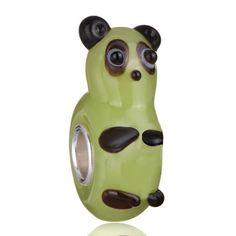 Pugster Cute Panda Peridot Murano Glass Charm Bead Fits Pandora Charm Bracelet Pugster. $12.49. Murano Glass Bead. Unthreaded European story bracelet design. Measures 14 mm x 7 mm. Free Jewerly Box. Pandora, Biagi, Chamilia Bead Compatible