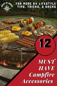 This is a must read for campfires and outdoor cooking and grilling! Don't miss looking at this how-to guide on grill and campfire cooking accessories! Perfect for Spring Camping, Summer Camping and Fall Camping! Camping Gadgets, Camping Meals, Tent Camping, Camping Hacks, Glamping, Florida Keys Camping, Camping In North Carolina, Rv Accessories, Outdoor Cooking