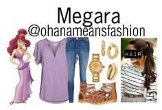 """Megara"" by ohanameansfashion ❤ liked on Polyvore featuring Velvet by Graham & Spencer, Børn and Versace"
