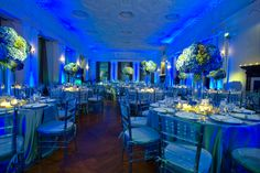 Fabulous #blue #uplighting at this #wedding #reception! #DIY #Inspiration #Ideas #rentmywedding