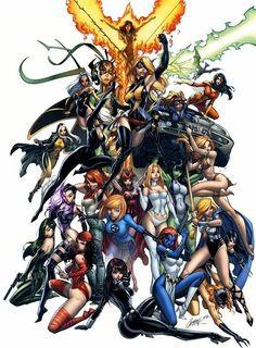 Women of Marvel//J. Scott Campbell/C/ Comic Art Community GALLERY OF COMIC ART