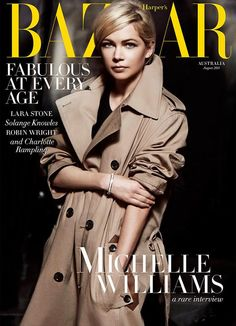 awesome Harper's Bazaar Austrália Agosto 2014 | Michelle Williams por Peter Lindbergh  [Capa]