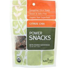 Navitas Naturals Snacks - Organic - Power - Citrus Chia - Gluten Free - 8 oz - case of 12