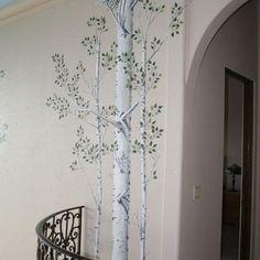 Aspen Tree Stencil Design Ideas, Pictures, Remodel, and Decor