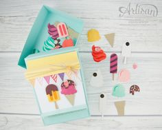 Stampin' Up!  - Artisan Design Team, Ice Ice Baby - Framelitsformen Cool Creations - Magnetspiel - Zuckerstreusel - 7
